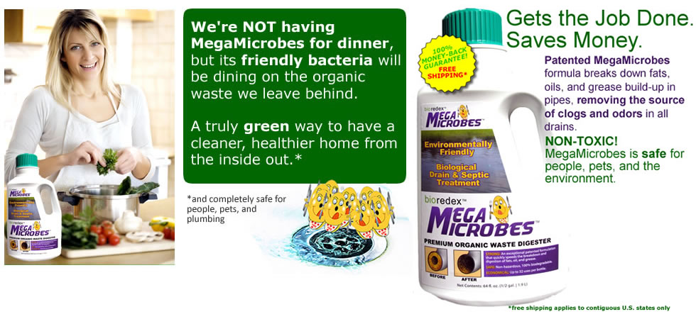 MegaMicrobes Liquid patented natural drain cleaner